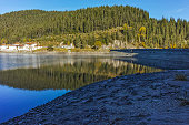 Green forest of Golyam Beglik Reservoir, Pazardzhik Region, Bulgaria