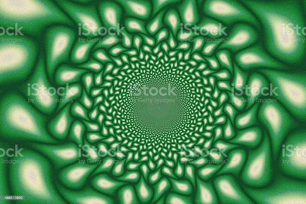 Green fractal tunnel stock photo