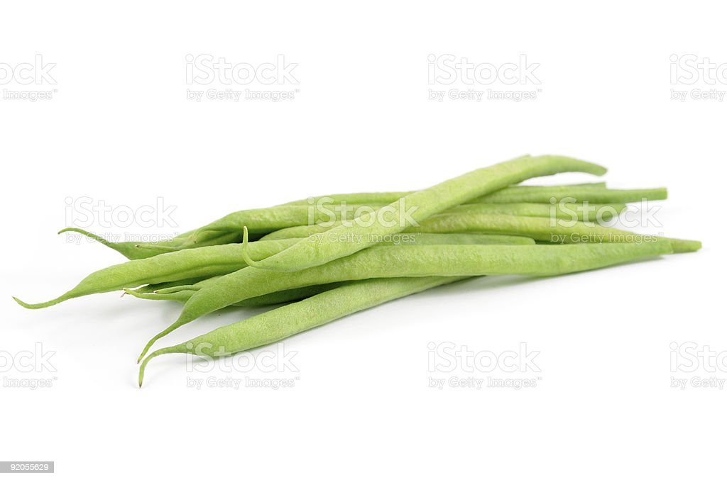Green french beans stock photo