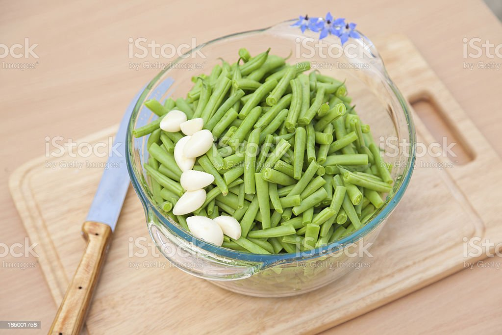 Green french string bean stock photo