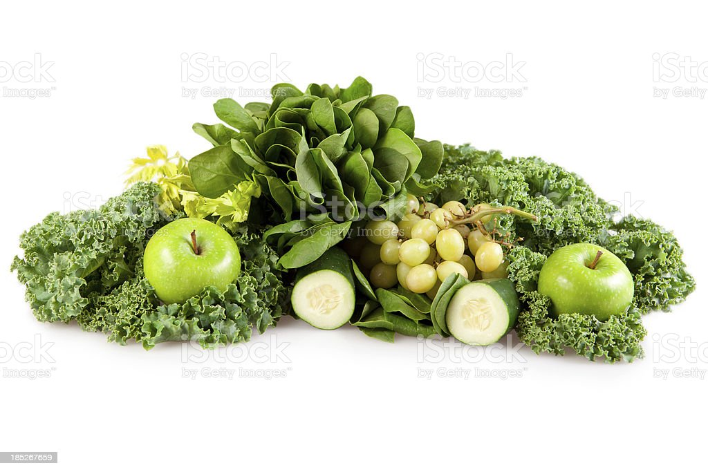 Green fruits and vegatables royalty-free stock photo