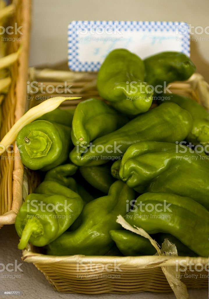Green Frying Peppers royalty-free stock photo