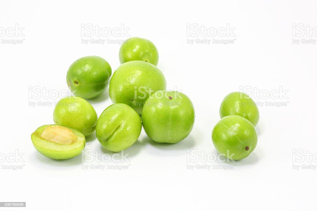 Green gage greengage fruit stock photo