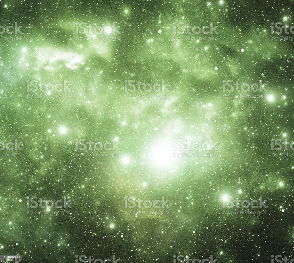 Green galaxy royalty-free stock photo