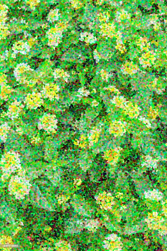 Green garden pointillism stock photo