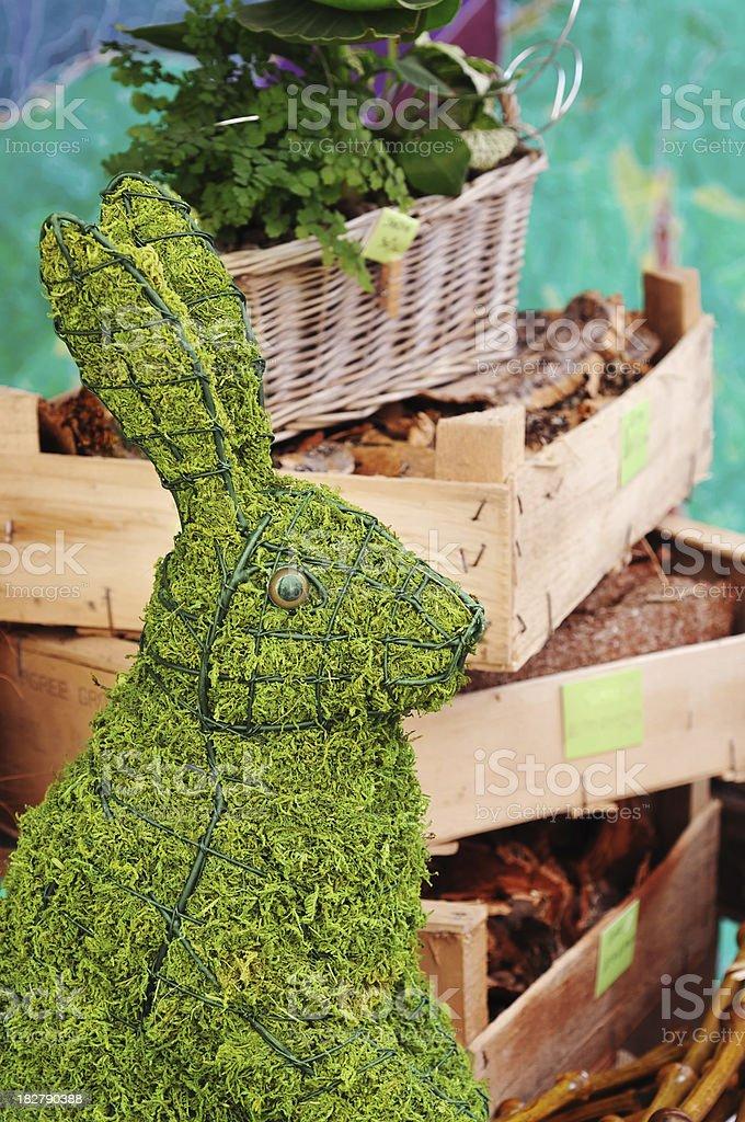 green gardening with Rabbit symbol stock photo