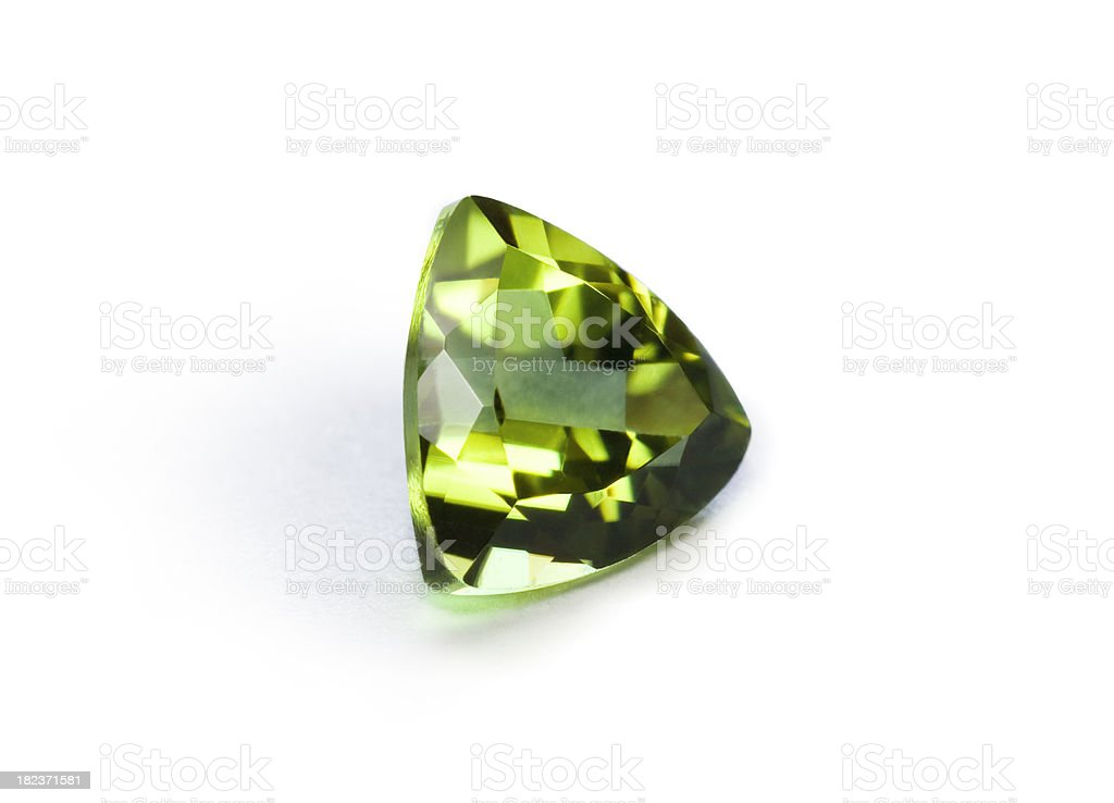 Green garnet royalty-free stock photo