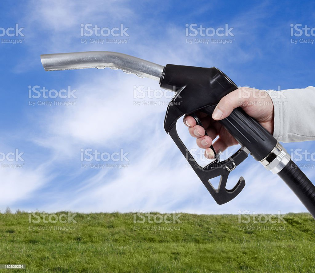 Green gasoline concept royalty-free stock photo