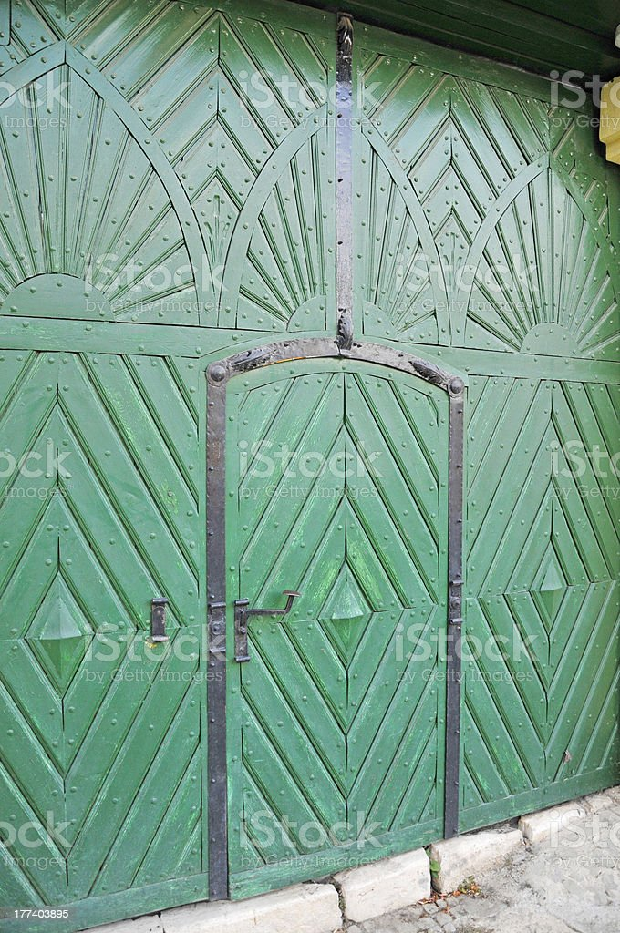 Green gate royalty-free stock photo