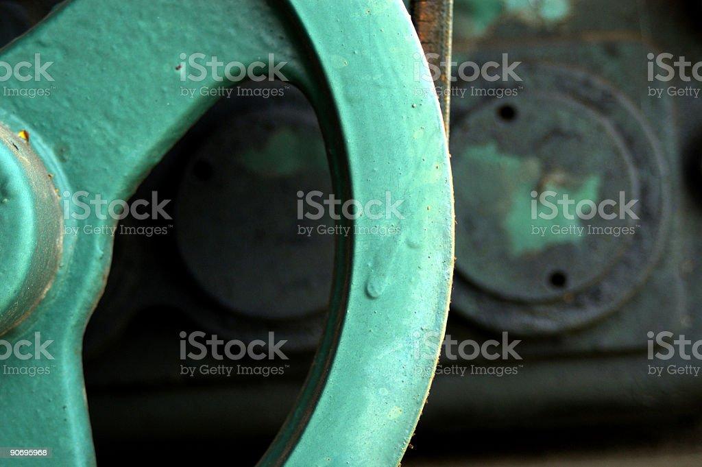 green gear stock photo