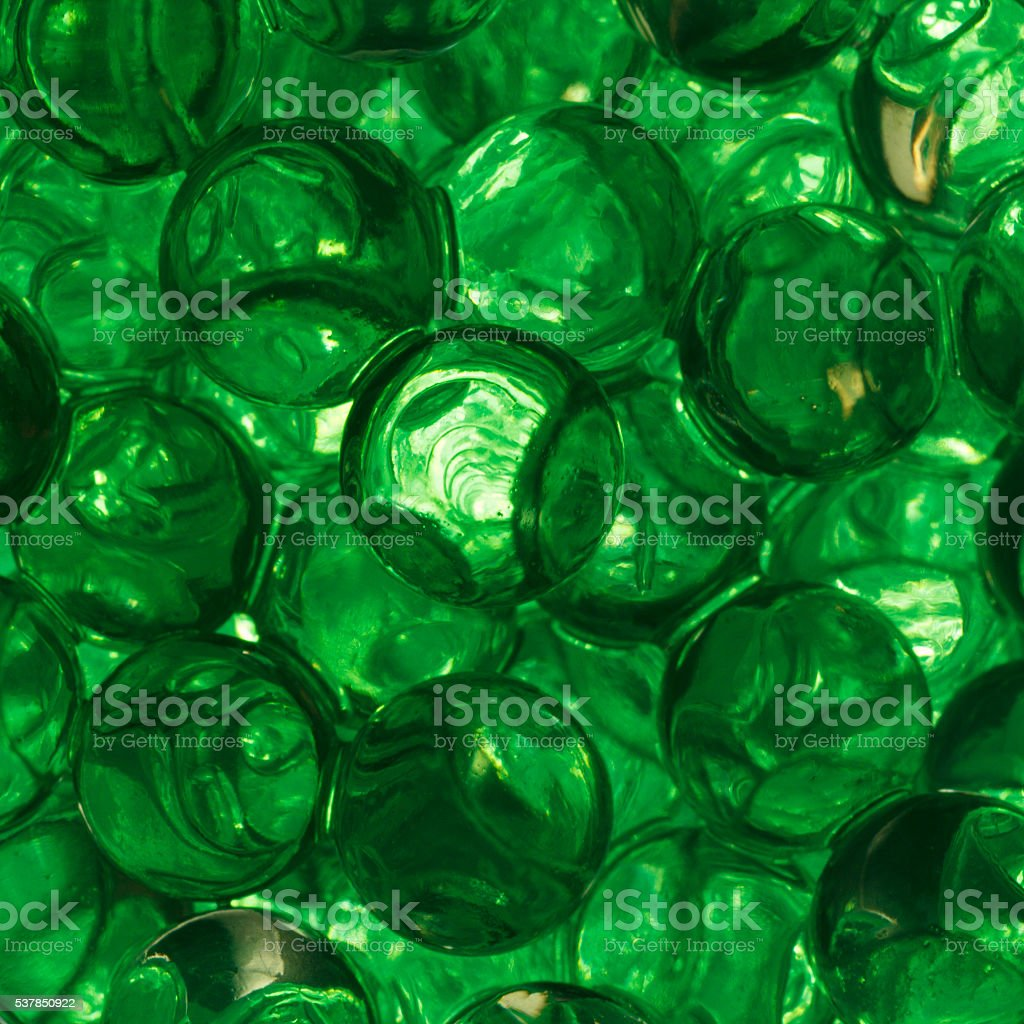 Green gel balls stock photo