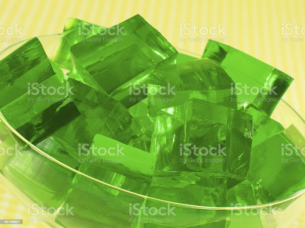 Green Gelatin stock photo