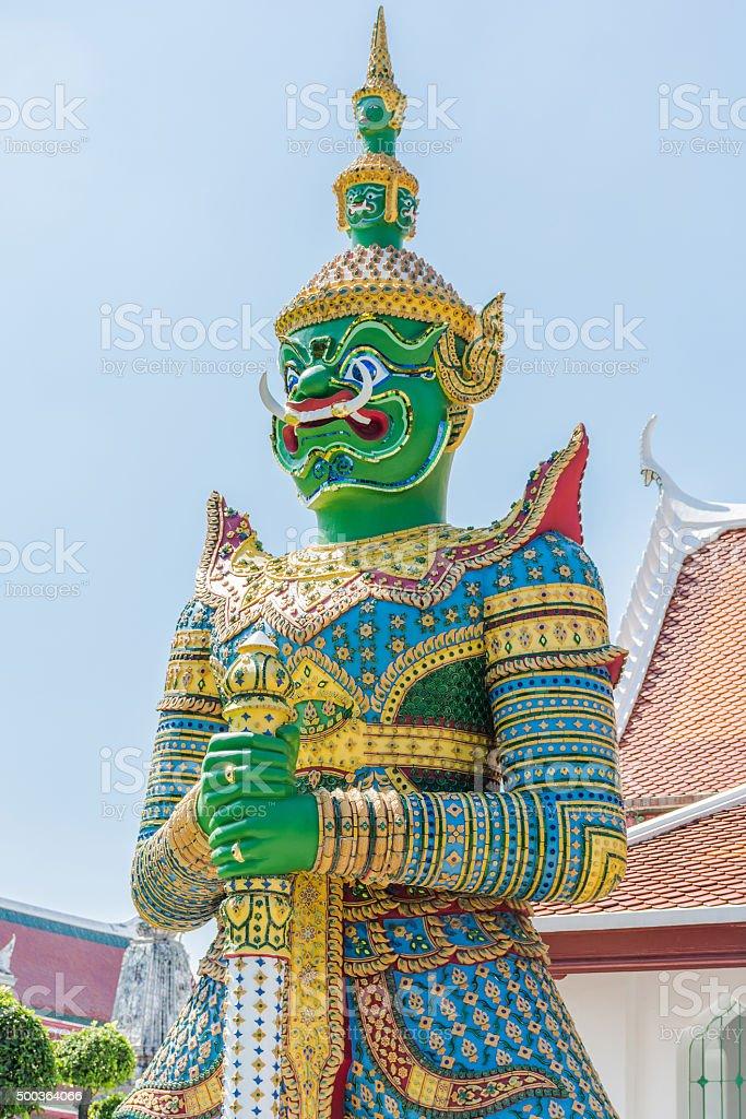 Green Giant  Guardian statue stock photo