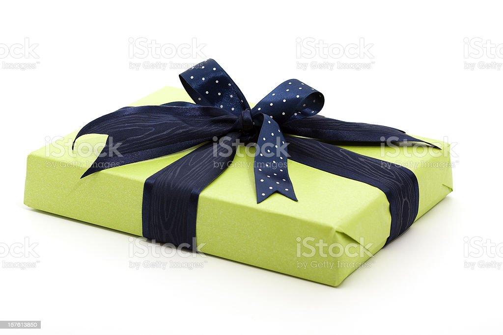 green gift box royalty-free stock photo