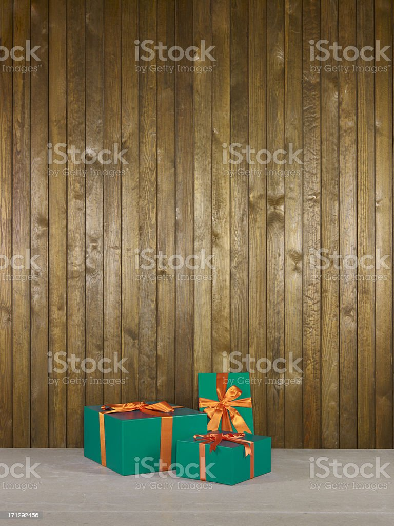 Green Gift Boxes royalty-free stock photo