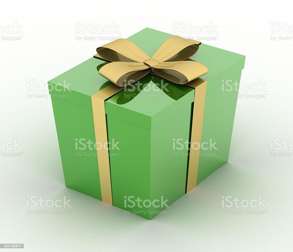 Green gift stock photo