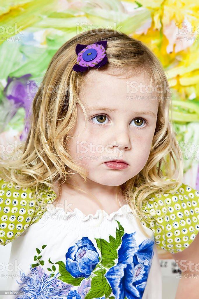 Green Girl stock photo