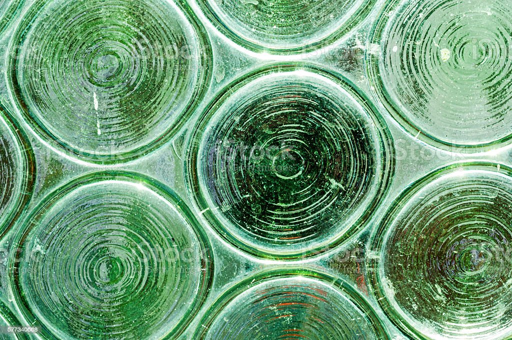 Green glass circles background stock photo