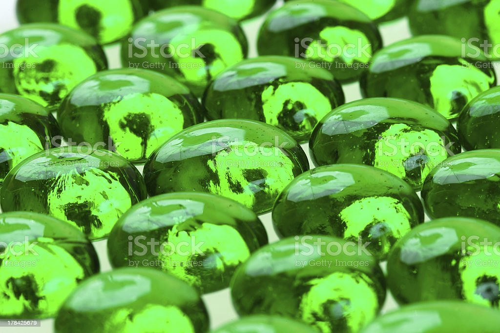 緑色のガラスの雨滴 ロイヤリティフリーストックフォト