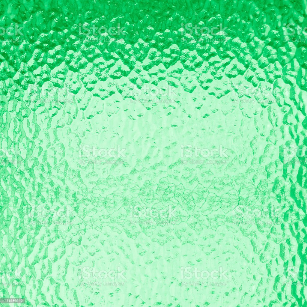 Green glass for texture stock photo