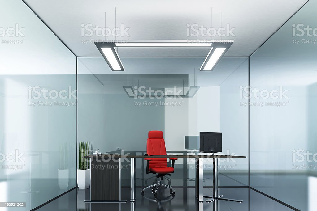 Green Glass Office royalty-free stock photo