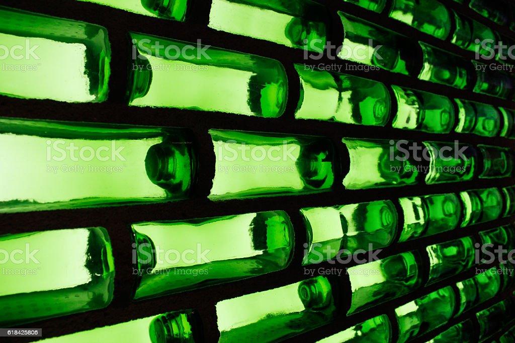 Green glass pattern stock photo