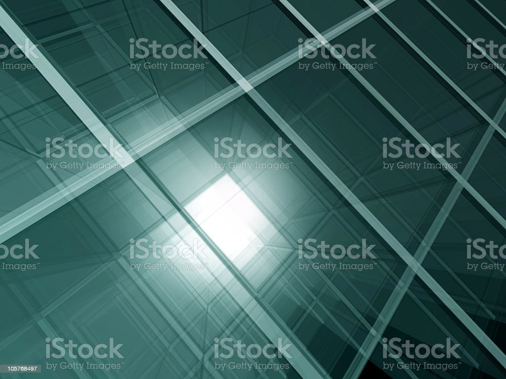Green glass space royalty-free stock photo