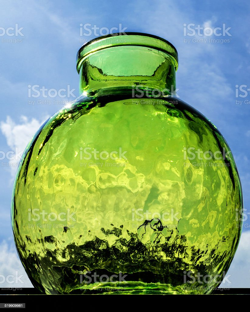 Green glass vase royalty-free stock photo