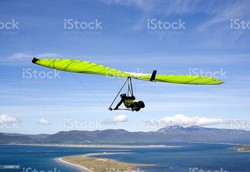 Green glider. royalty-free stock photo