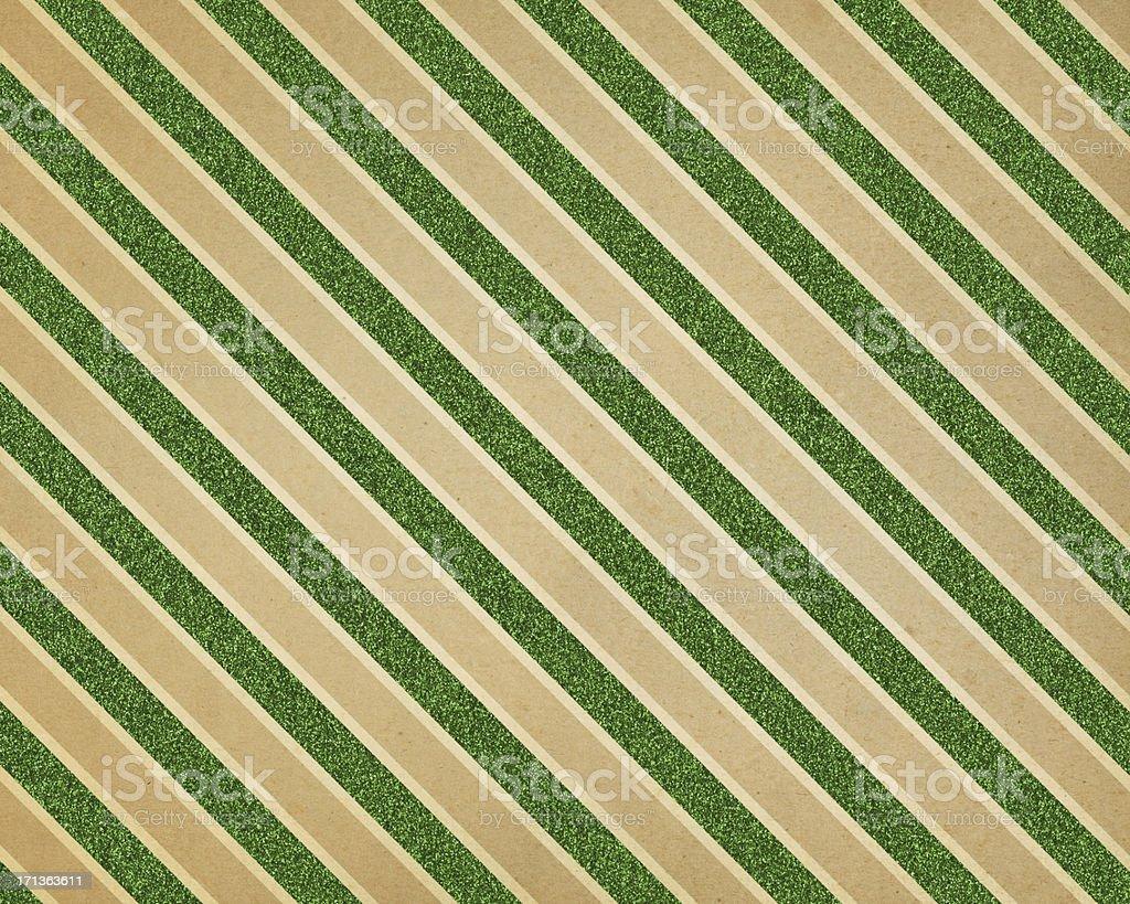 green glitter diagonal stripe paper vector art illustration