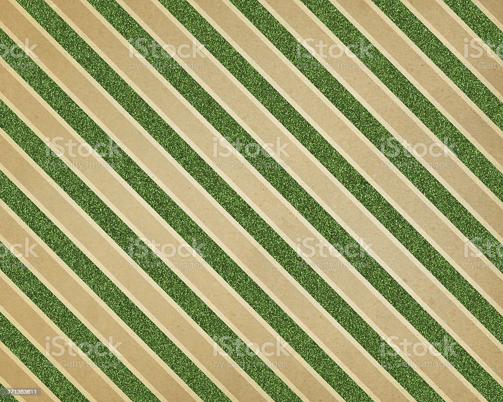 green glitter diagonal stripe paper stock photo