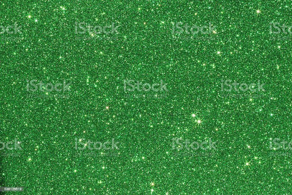 Green Glittering Background stock photo