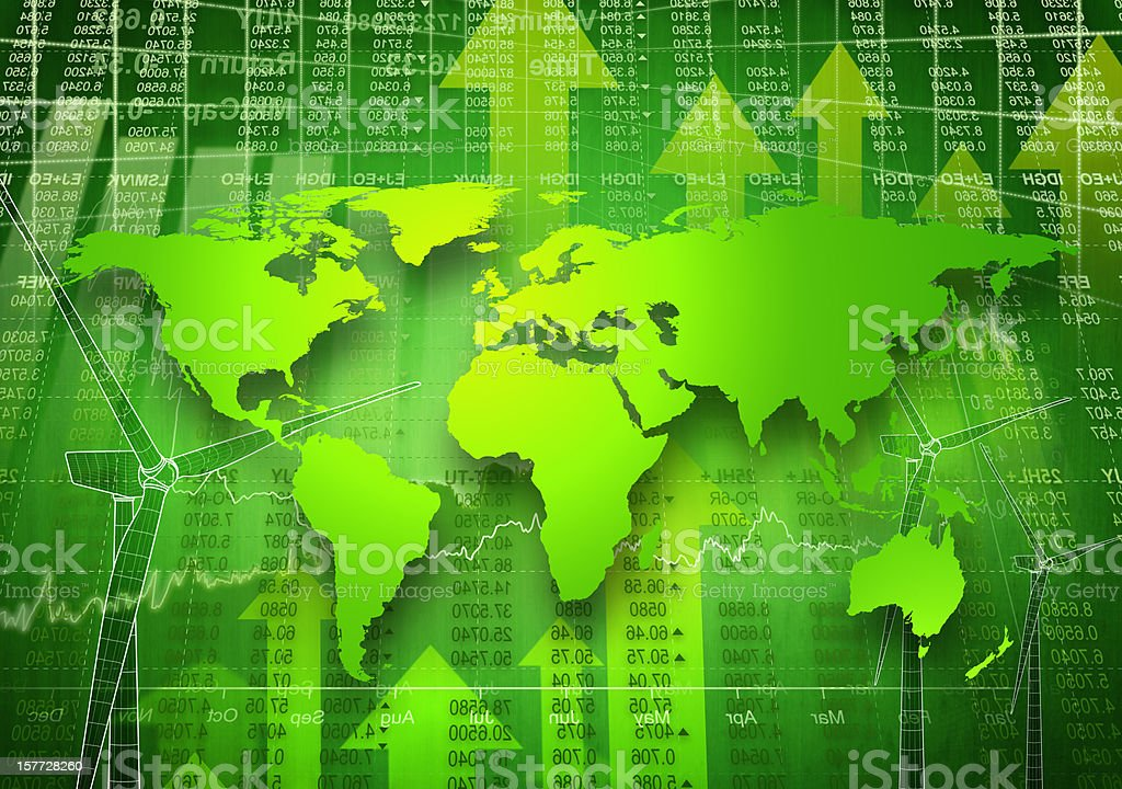 Green Global Business. stock photo