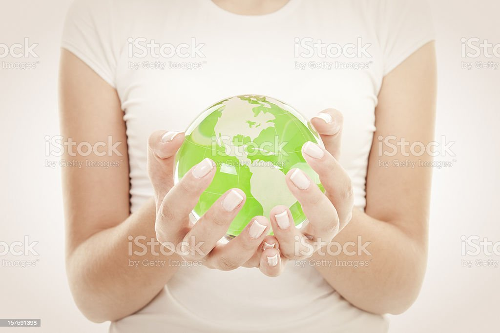 Green Globe royalty-free stock photo