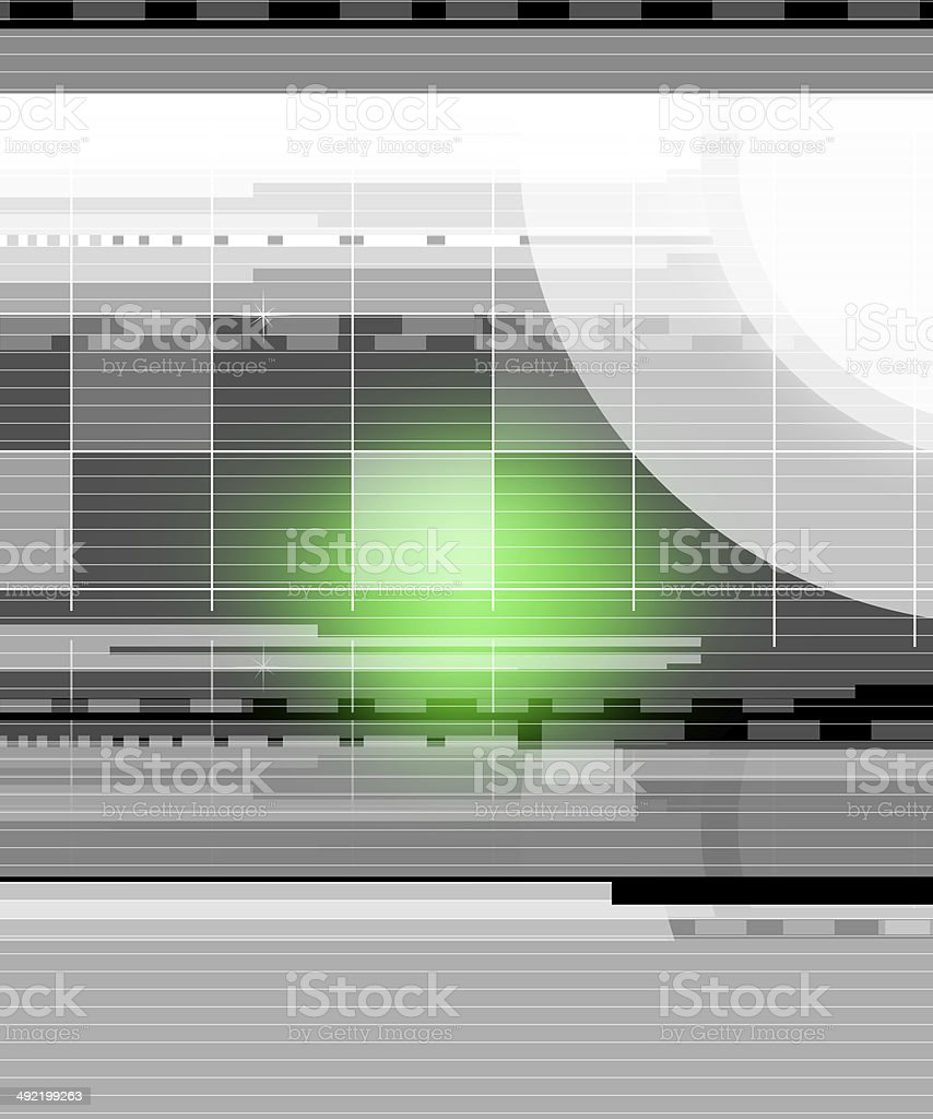 Green glow in the center royalty-free stock photo