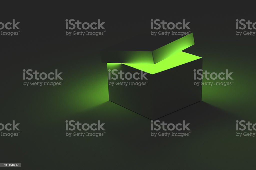 Green Glowing Box royalty-free stock photo