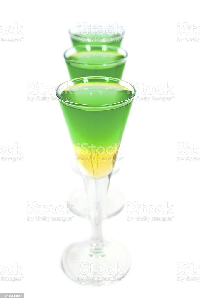 Green & Gold Cocktail stock photo