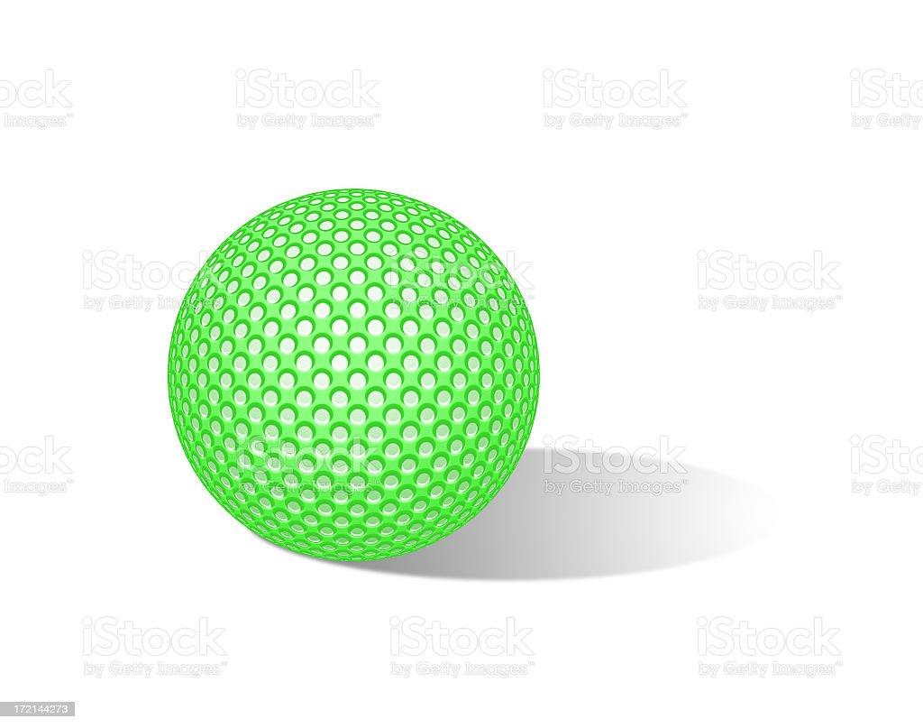 Green golf ball stock photo
