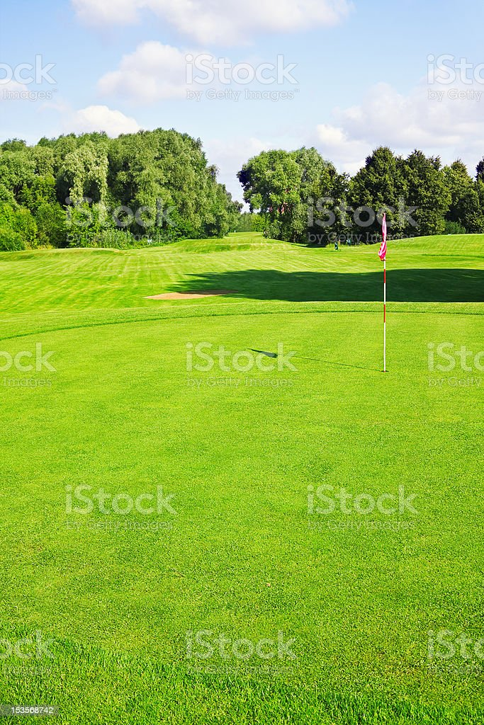 green golf course royalty-free stock photo