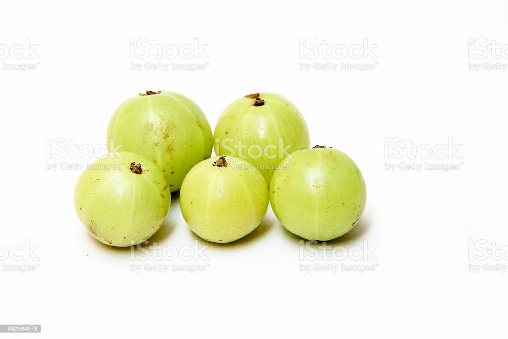 Green Gooseberries royalty-free stock photo
