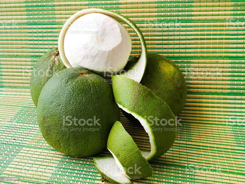 green grapefruit stock photo