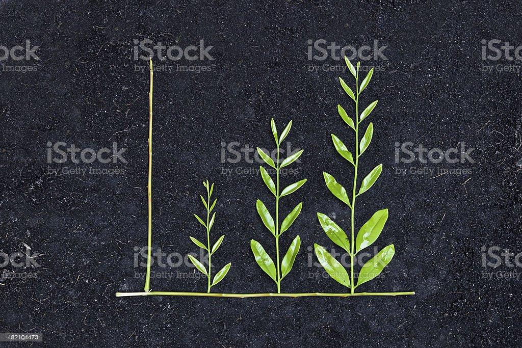 green graph / csr stock photo