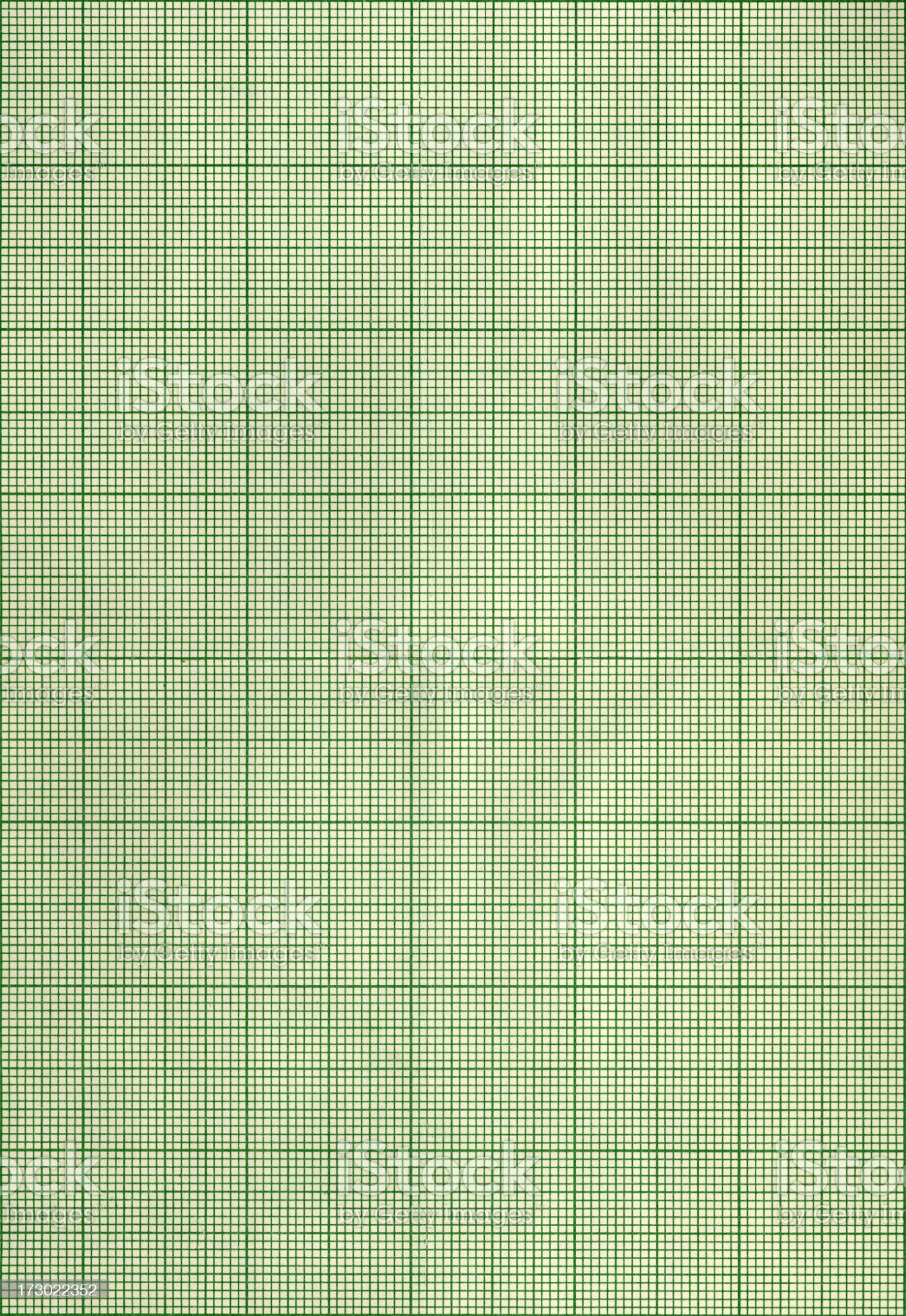 Green graph paper royalty-free stock photo