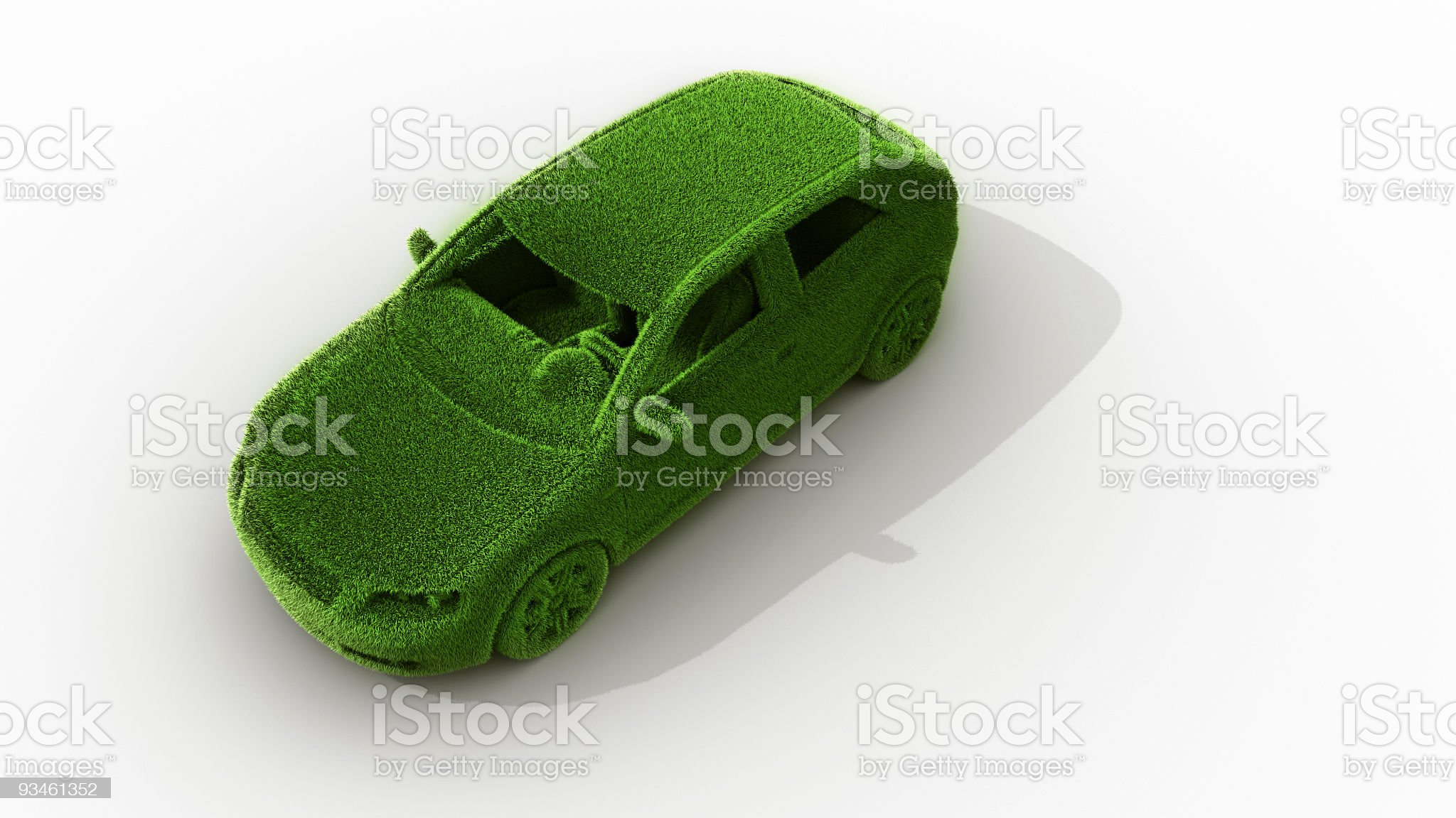 green grass car royalty-free stock photo