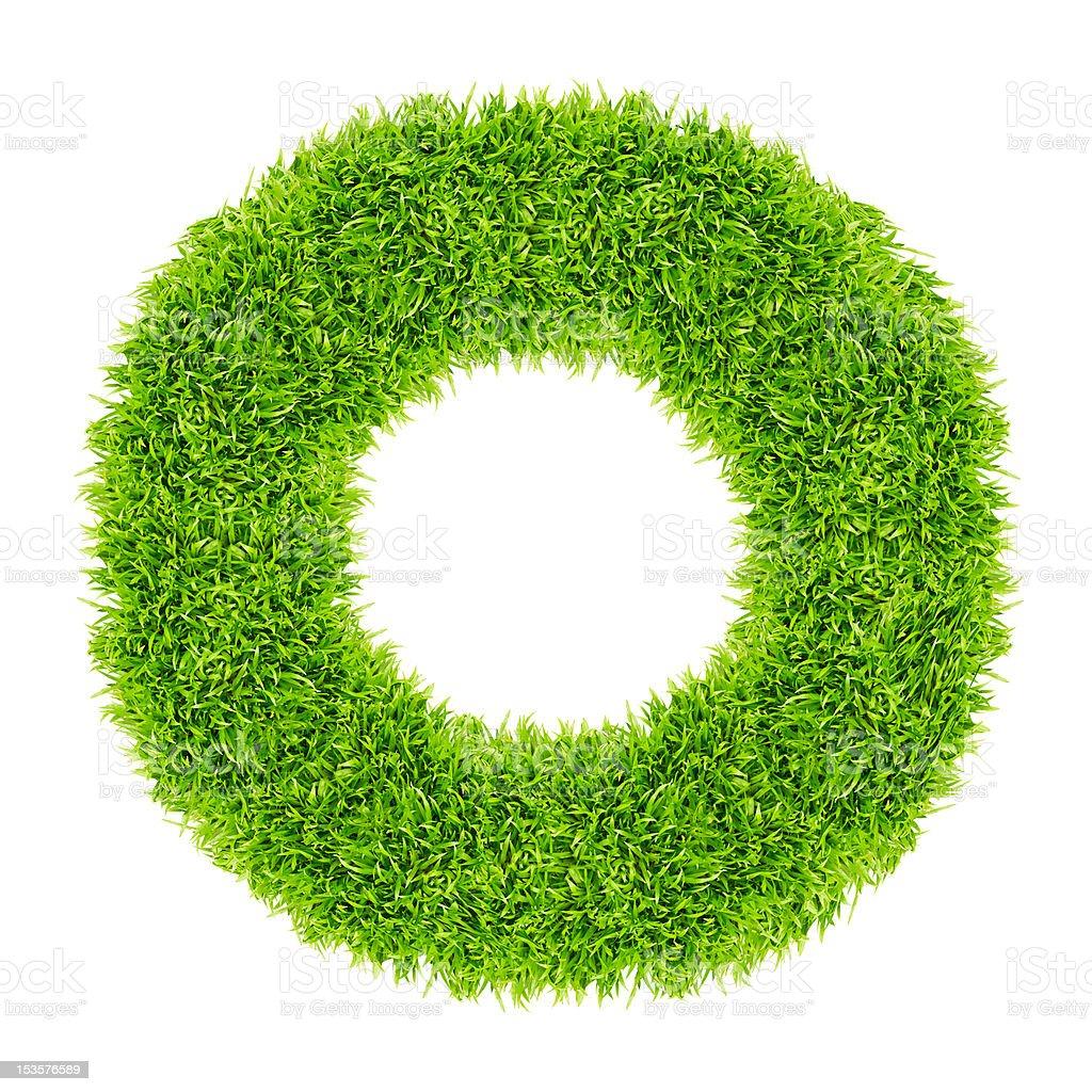 Cornice del cerchio verde erba isolati foto stock royalty-free