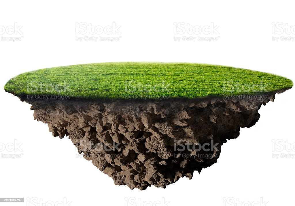 green grass island stock photo