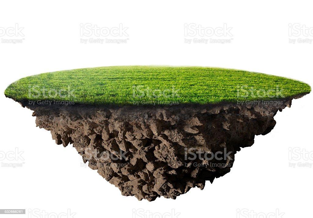 green grass island stock photo