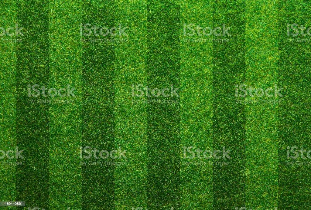 Green grass soccer field background stock photo