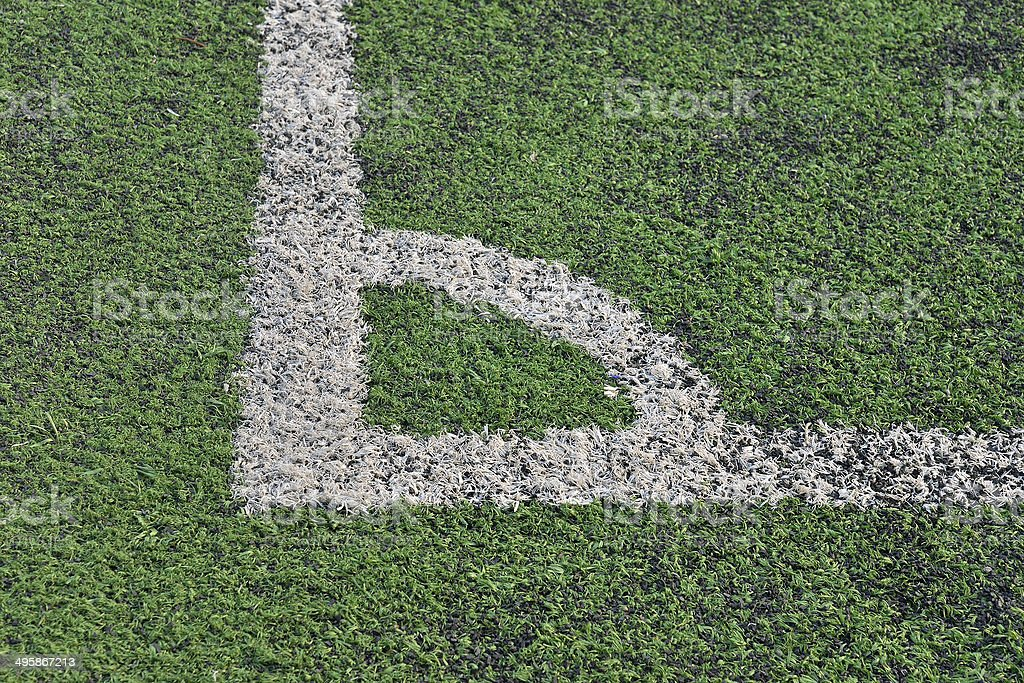 green grass soccer field royalty-free stock photo