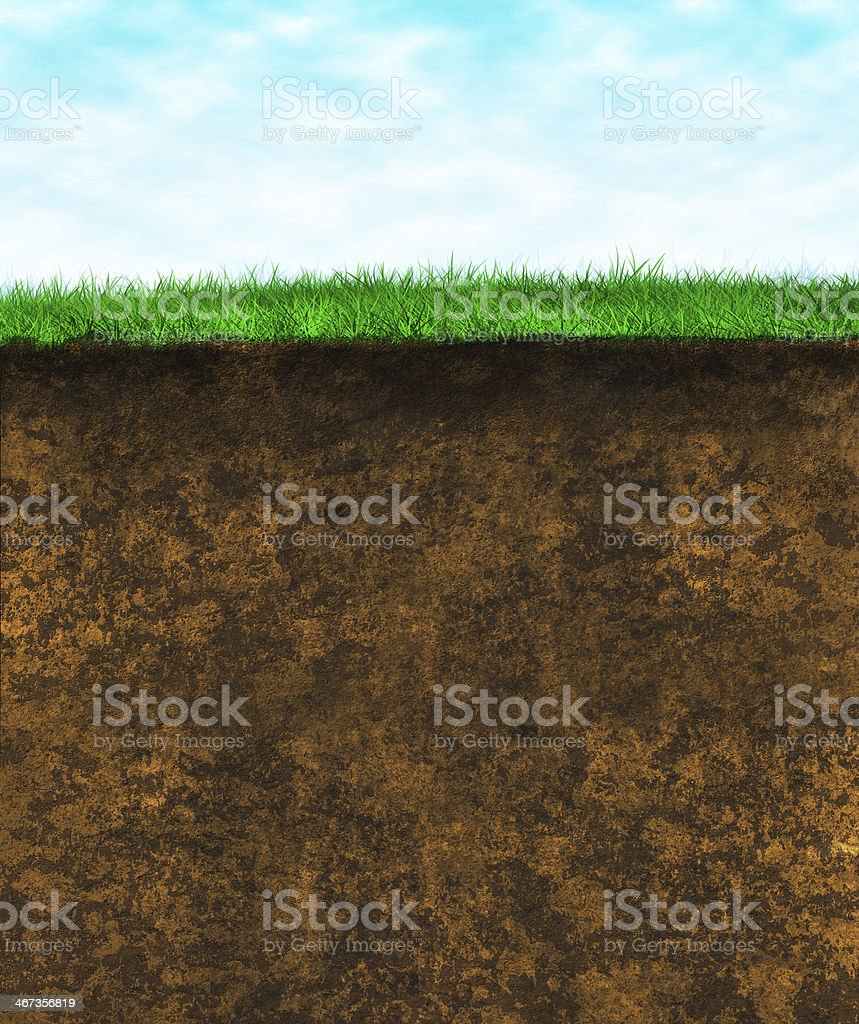 Green grass soil - texture surface stock photo